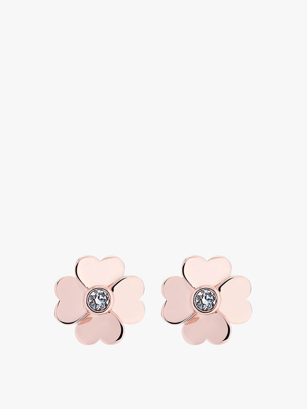 Hamzi Heart Flower Stud Earrings