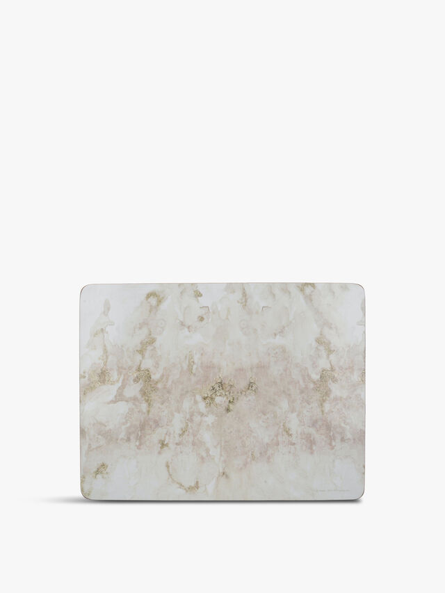 Marble Effect Set of 6 Standard Placemats