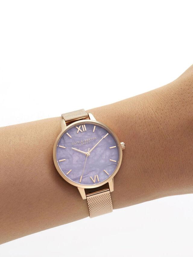 Demi Amethyst Gold Watch