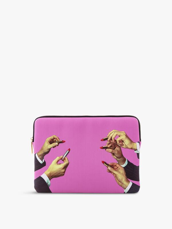 Toiletpaper Laptop Bag Lipstick Pink
