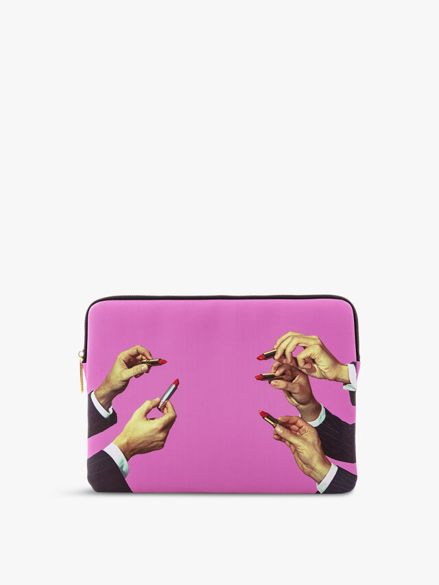 Toiletpaper Pink Lipsticks Laptop Bag