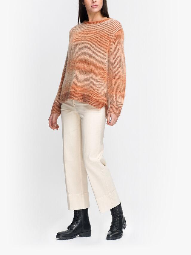 Crew Neck Gradient Soft Knit