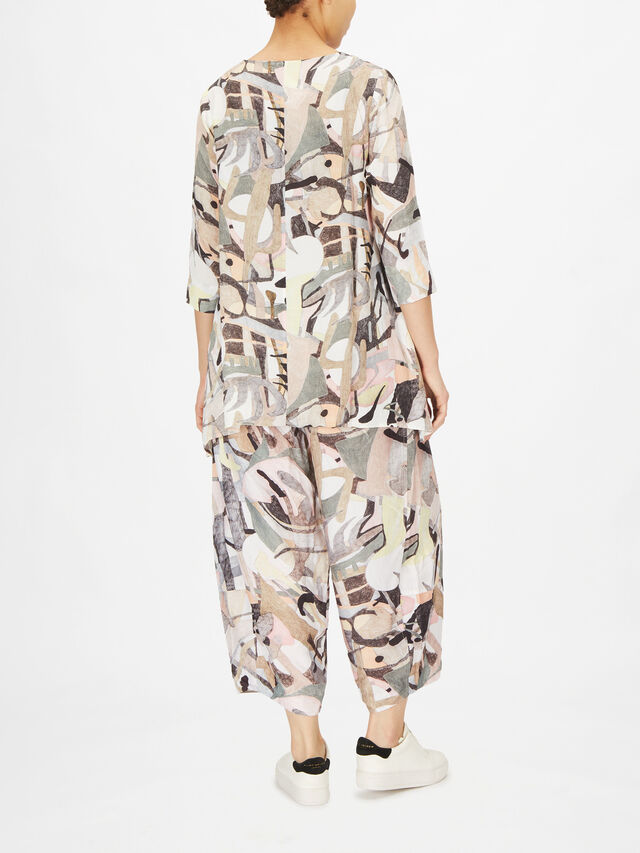 Abstract Print Asymmetric Tunic
