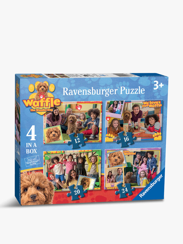 Waffle The Wonder Dog Puzzle Set of 4