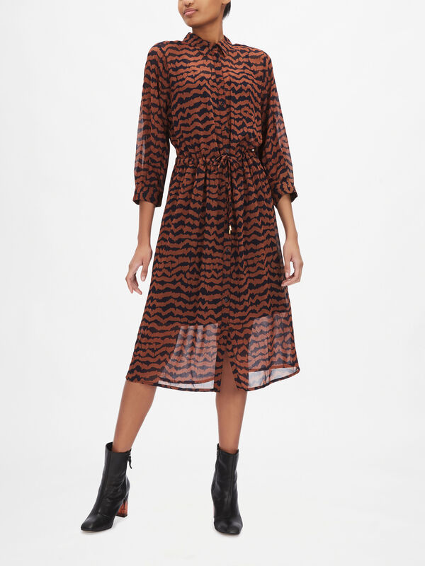 Esmine Printed Shirt Dress