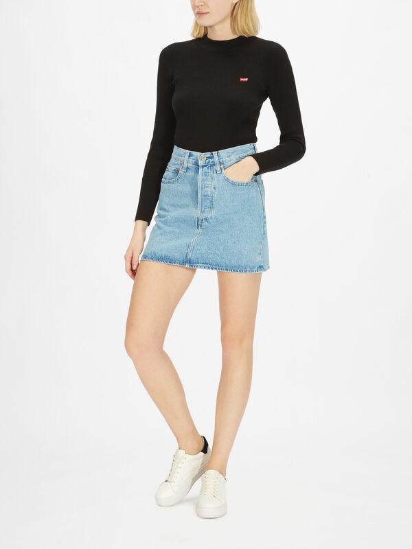 Ribcage Denim Skirt