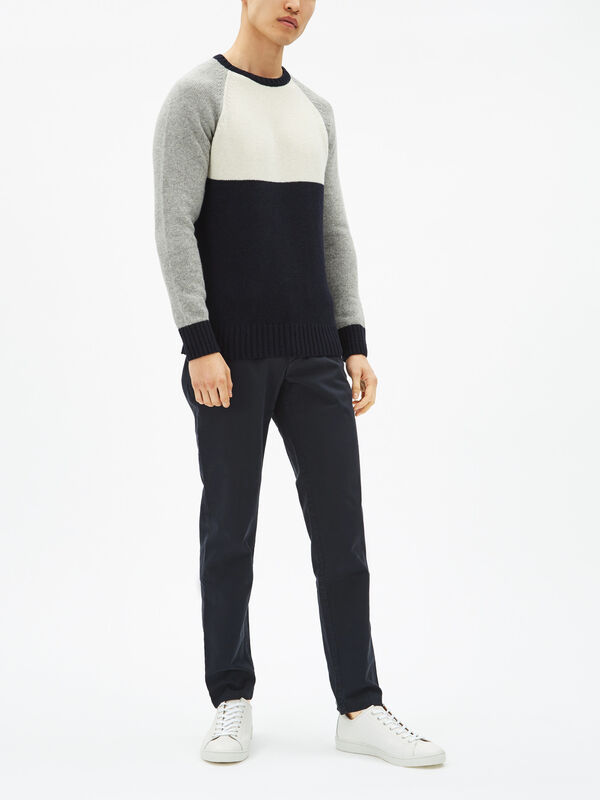 Colour Block Crewneck Sweatshirt