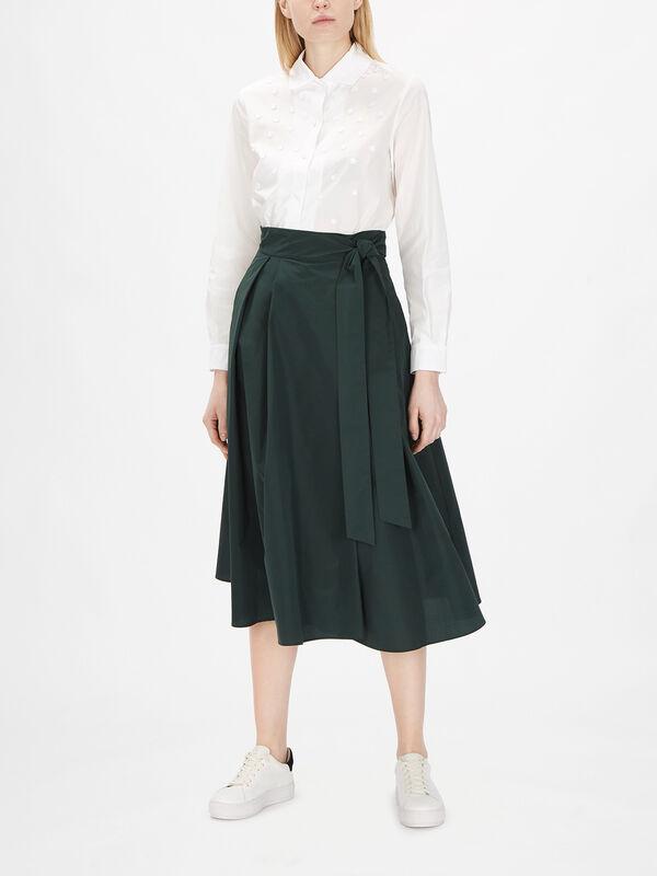 Sacha Long Pleated Skirt