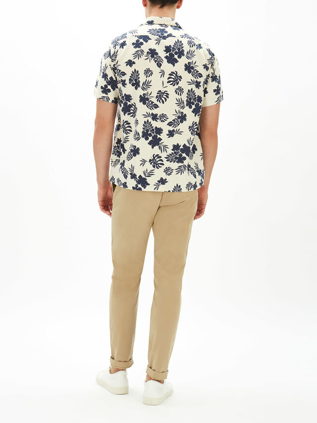 Parker Open Collar Pocket Shirt
