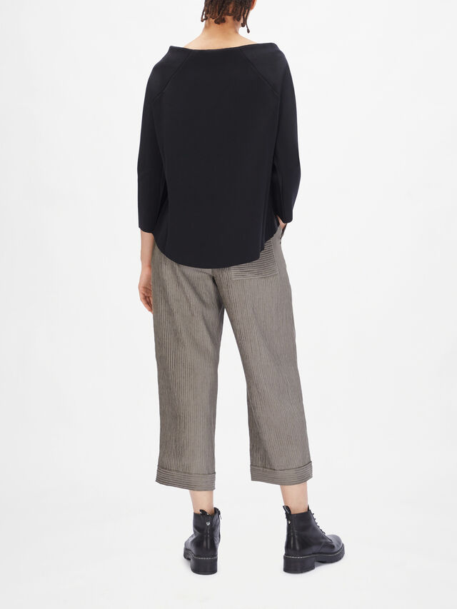 Side Stripe Boat Neck Jumper
