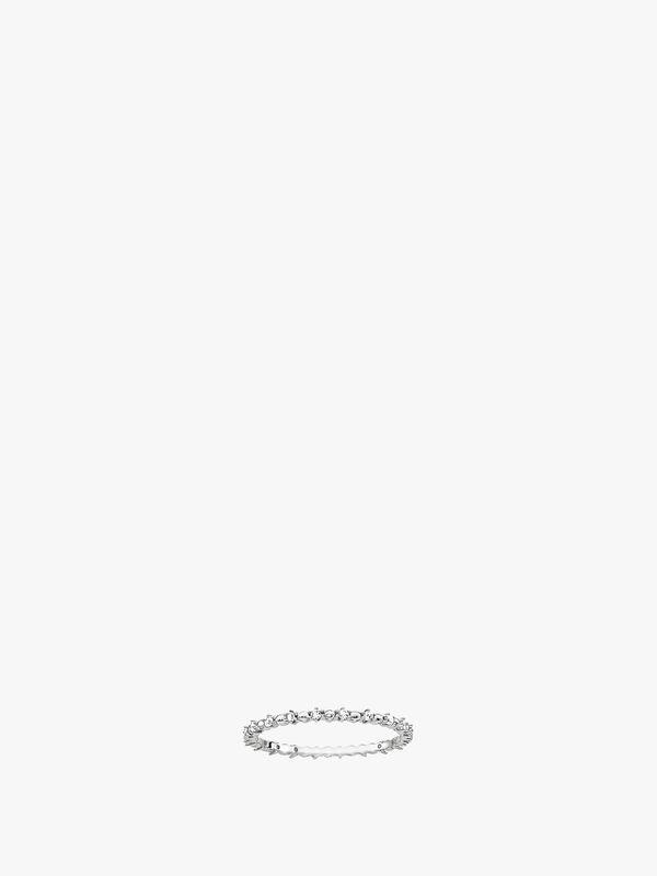 Delicate Ziconia White Ring-56
