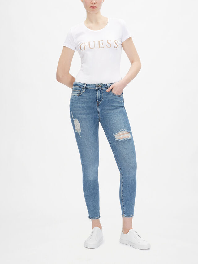 High Rise Halle Ankle Skinny Jeans