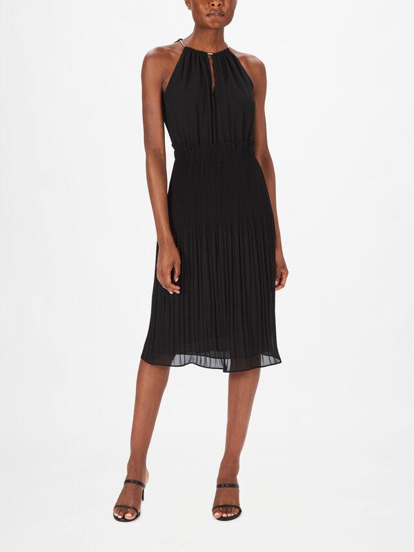 Chain Neck Midi Dress