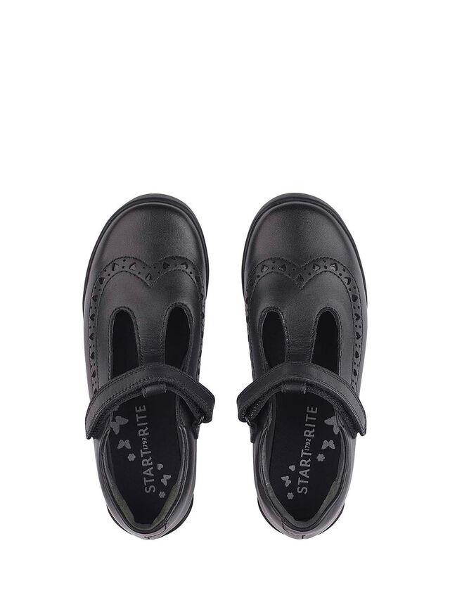 Leapfrog Black Leather School Shoes