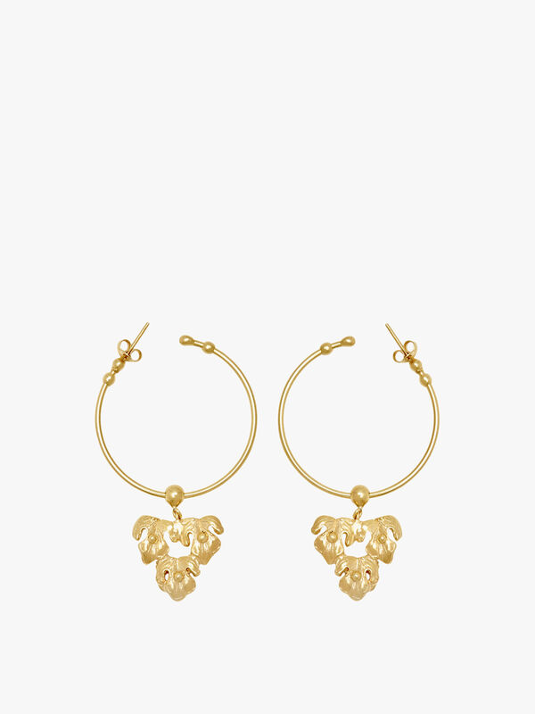 Minerva Hoop Earrings