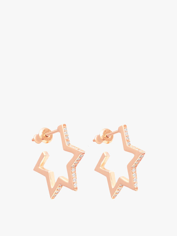 Crystallised Star Hoops