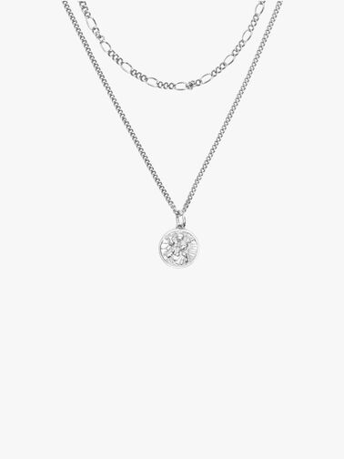 Silver St Christopher Multi ChainNecklace