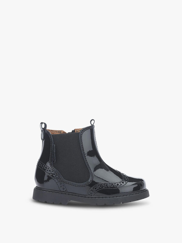 Chelsea Black Patent Boots