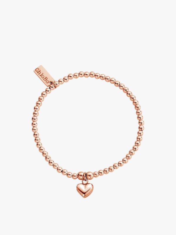 Cute Charm Puffed Heart Bracelet
