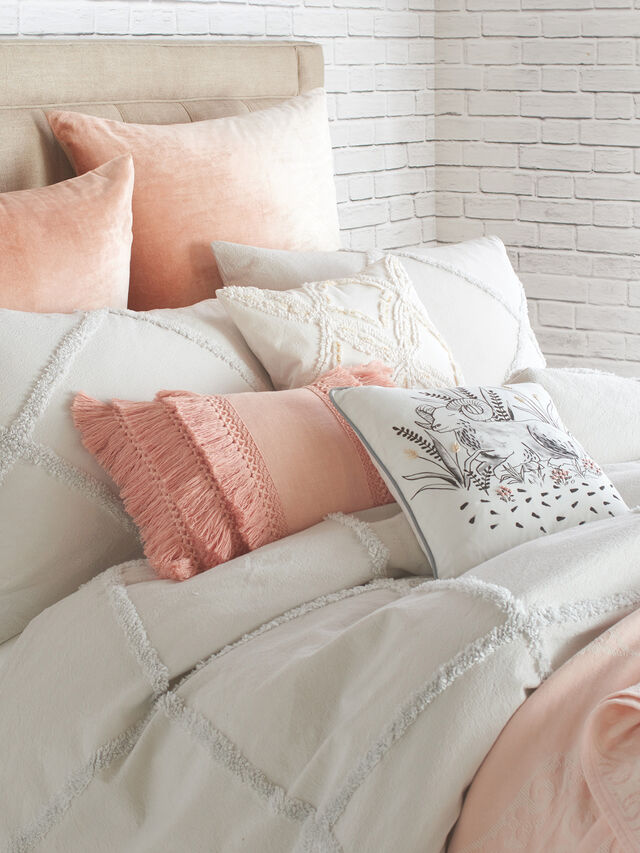 Chenille Lattice Duvet Cover