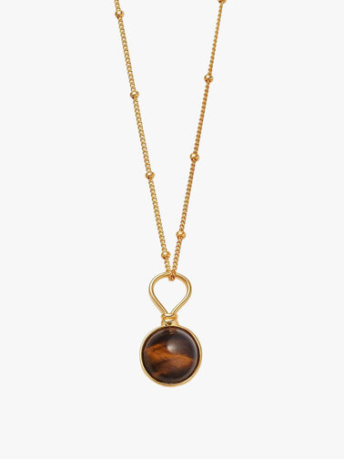 Tigers Eye Small Sphere Necklace