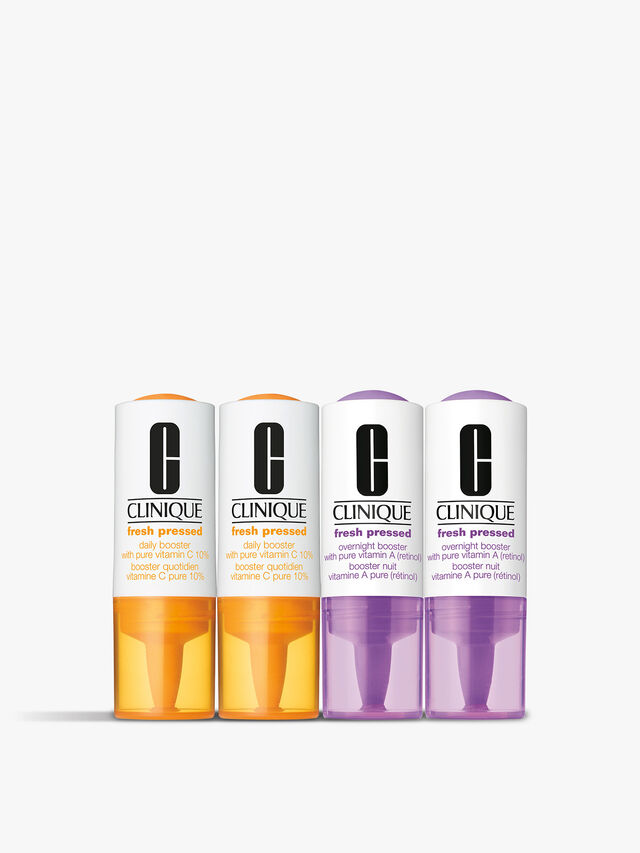 Fresh Pressed Clinical™ Daily Boosters Vitamin C 10% + A (Retinol) 4 pack