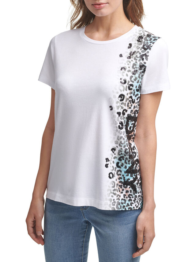 Leopard Logo T Shirt