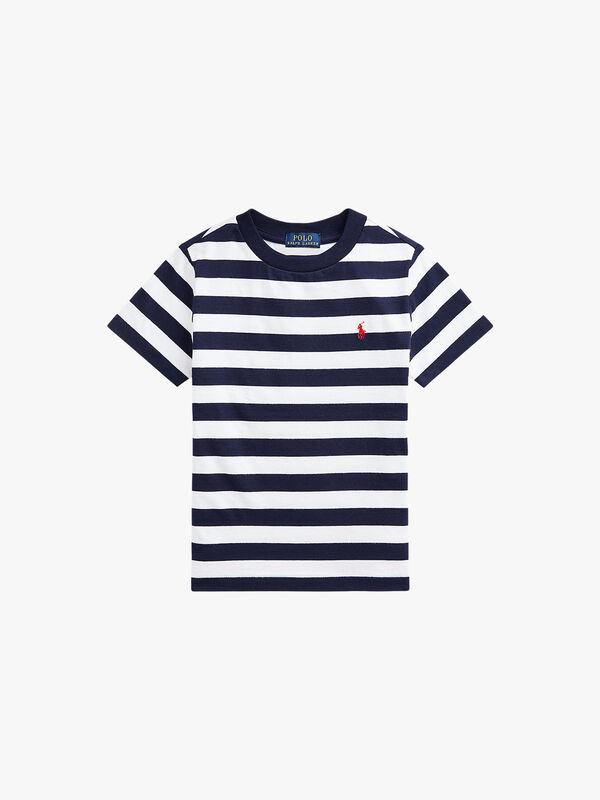 Short Sleeve Cotton Stripe T-Shirt