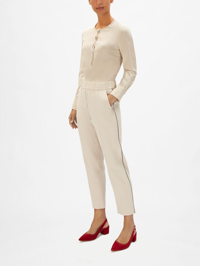 Side Piping Detail Soft Taper Trouser