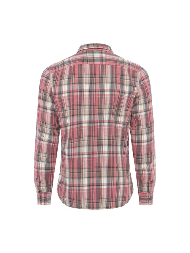 Pastel Bleach Checks Long Sleeve Shirt