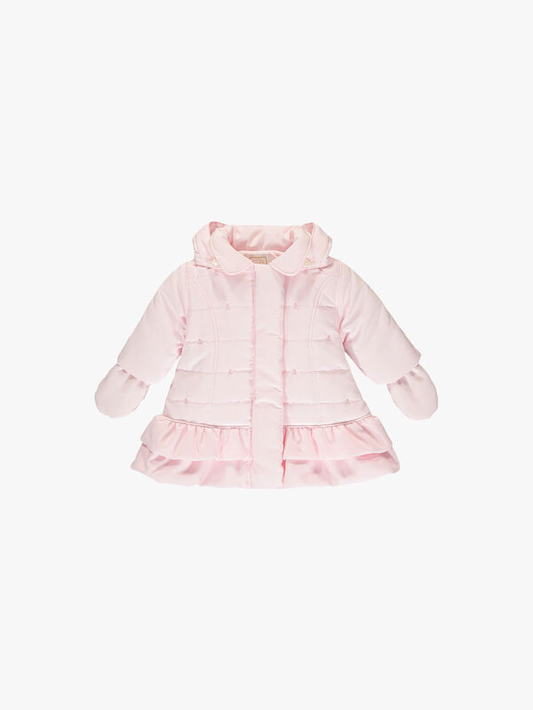 Quilted Rose Embroidered & Frill Jacket