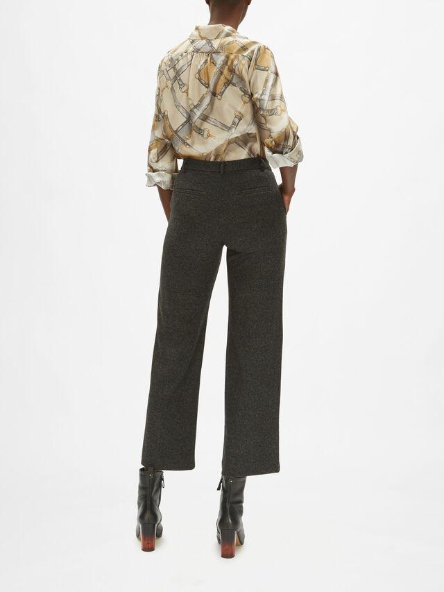 Pancone Herringbone Straight Trousers