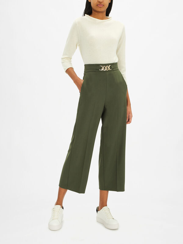 Theodor Cropped Wide Leg Trousers