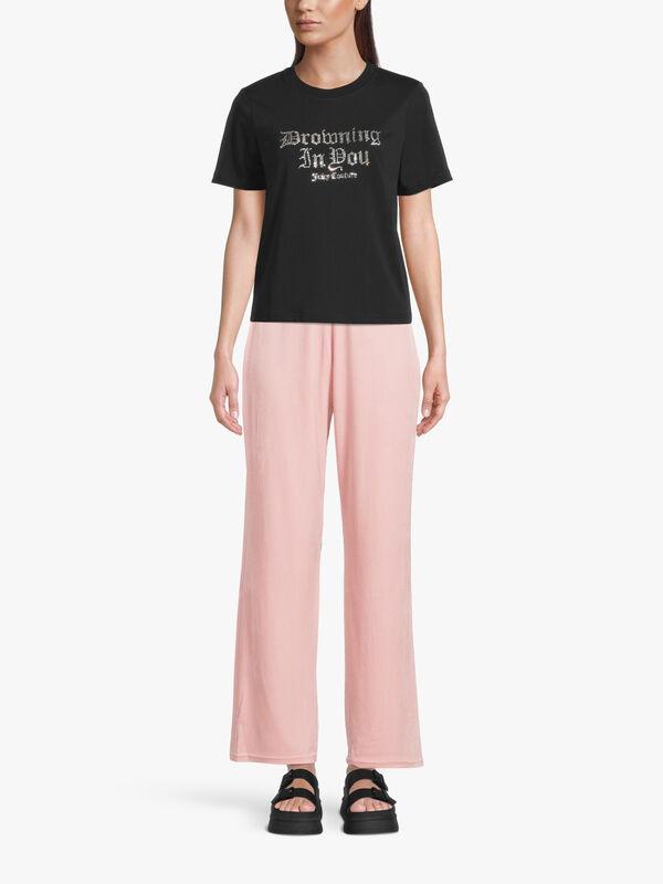 Girlfriend Diamante Front Graphic T Shirt