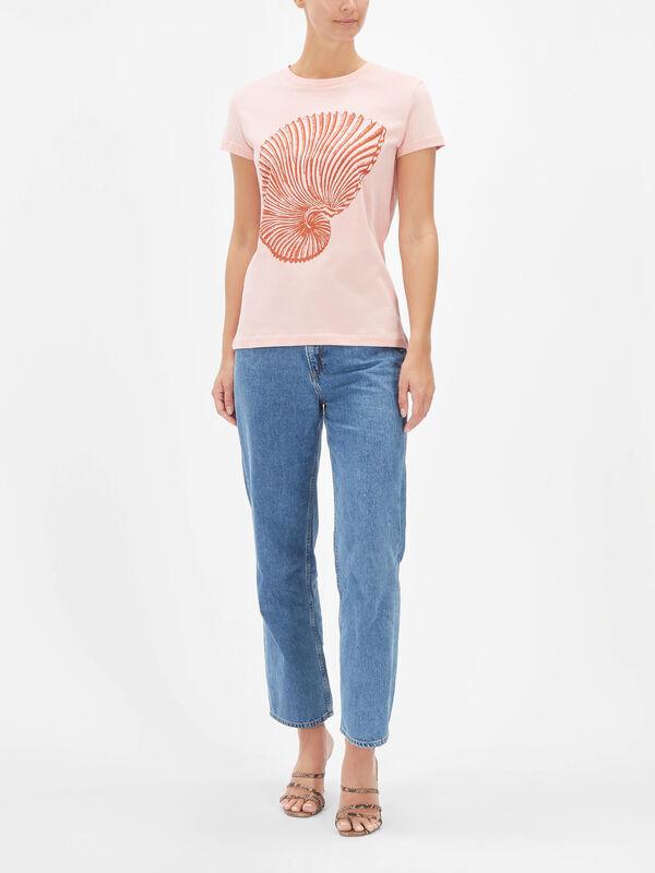 Jolee Shell Print Tshirt
