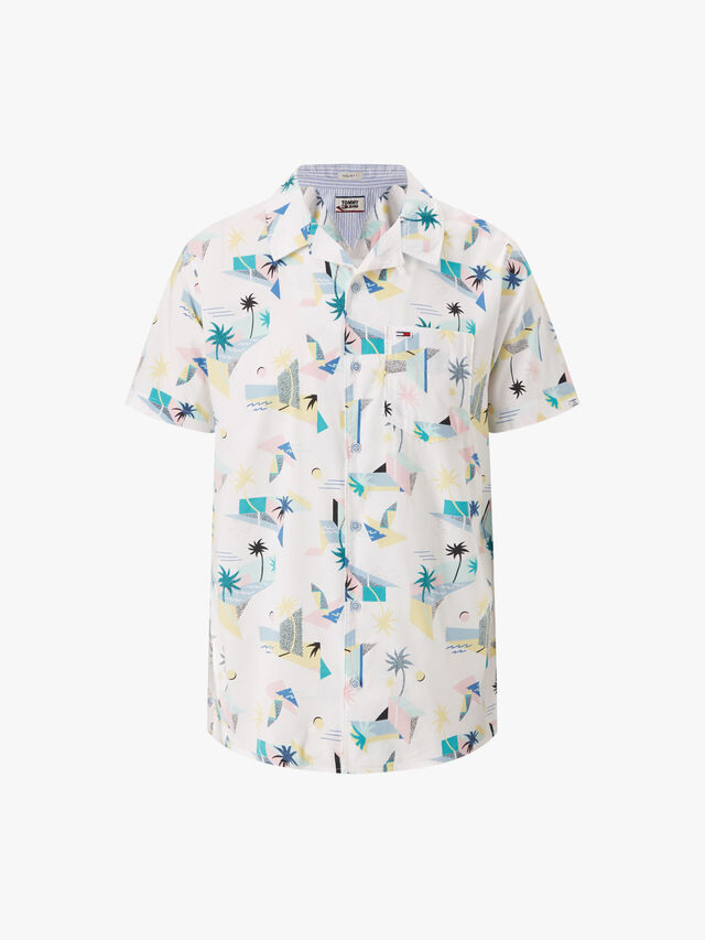 Tropical Palm Print Shirt