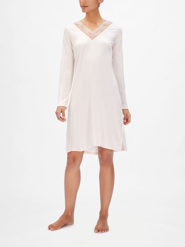 Coppelia Micromodal Lace Detail Long Sleeve Nightdress