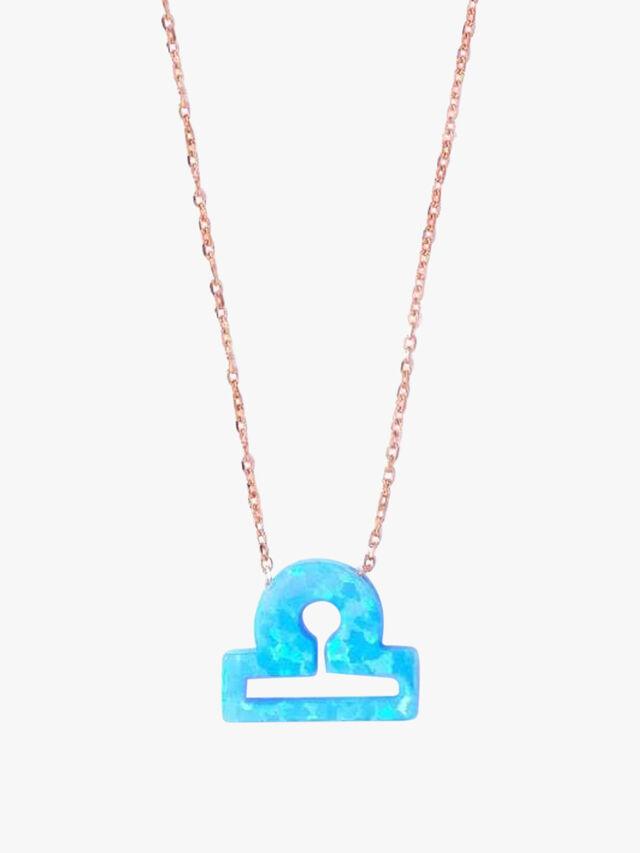 Opal Zodiac Libra Necklace
