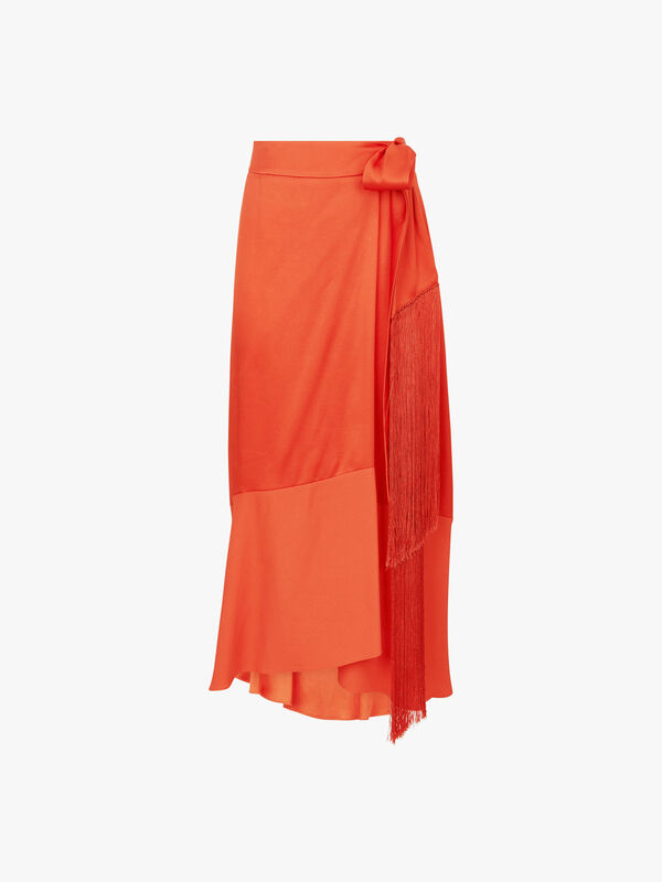 Viscose Satin Skirt