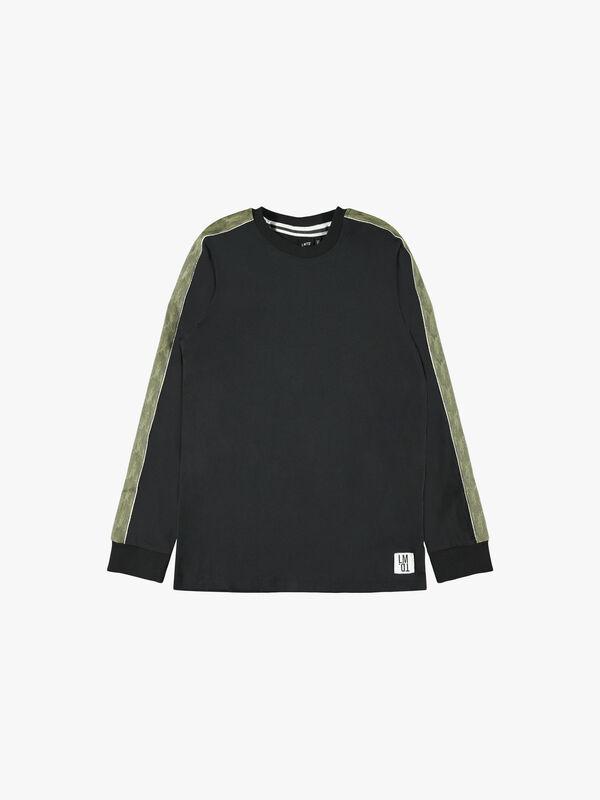 Panel Stripe Long-Sleeved T-Shirt