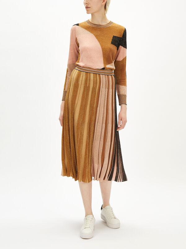 Donare Lurex Midi Skirt