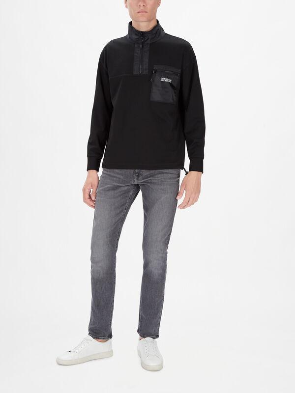 Milano Jersry Zip Neck Sweatshirt