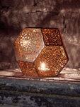 Etch Tea Light Holder Copper