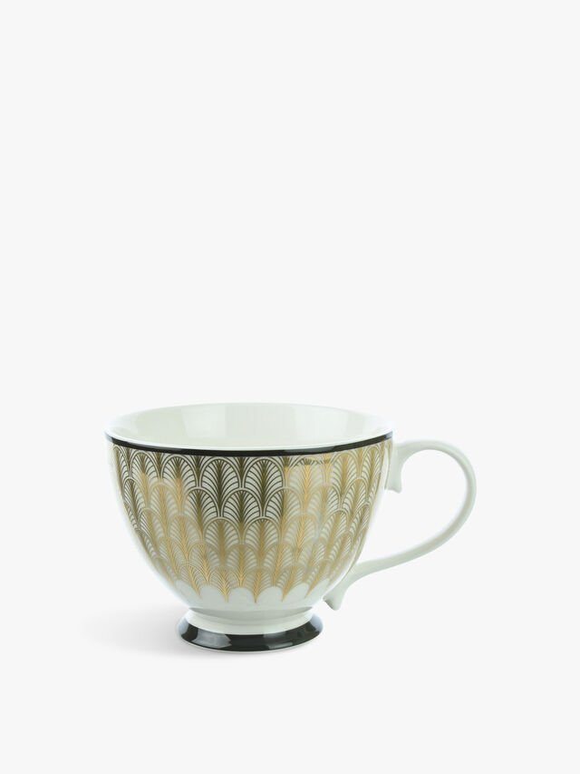 Feather Print Footed Cup