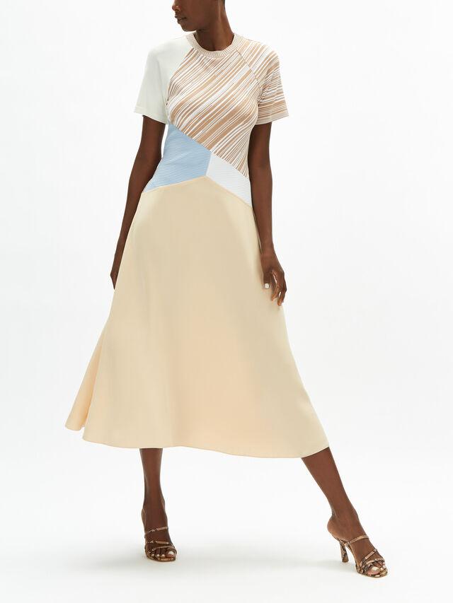 Mazurca Contrast Stripe Detail Dress