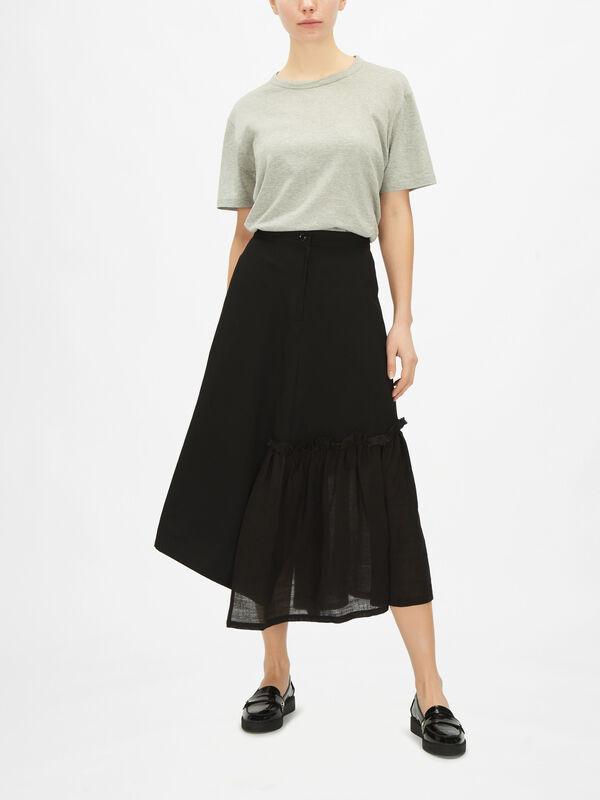 Gather Slit Skirt