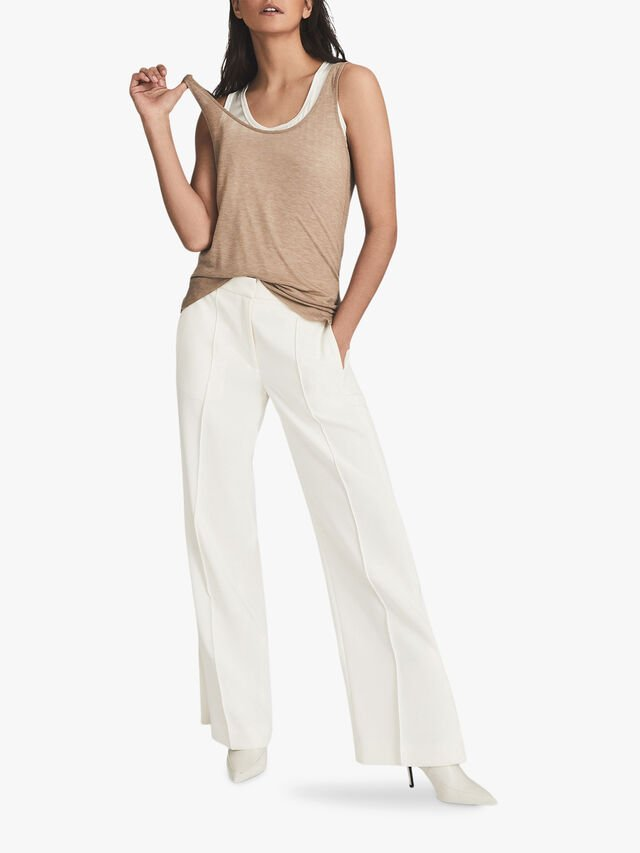 LEAH Wide Leg Tailored Trousers