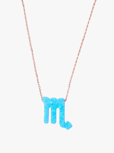Opal Zodiac Scorpio Necklace