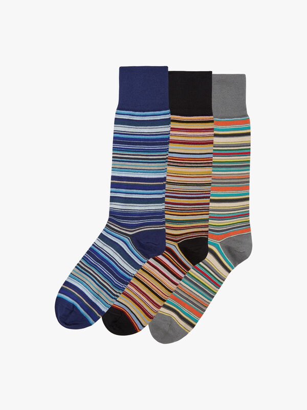 3 Pack Signature Stripe Socks