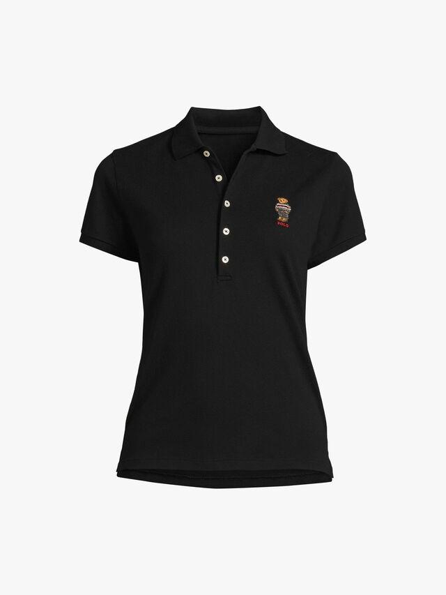 Ski Bear Short Sleeve Polo Shirt